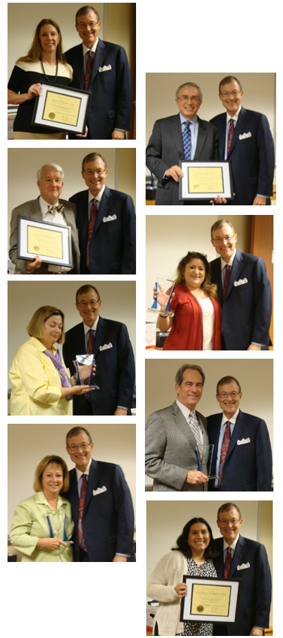 various board and committee members receiving awards for service
